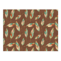 Southwest Geo Step | Southwest Feather Pattern Postcard