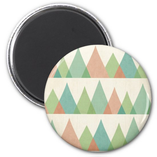 Southwest Geo Step | Teal & Coral Triangles Magnet
