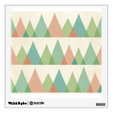 Art Themed Southwest Geo Step | Teal & Coral Triangles Wall Decal