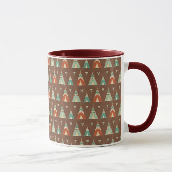 Southwest Geo Step | Teal Teepee Pattern Mug