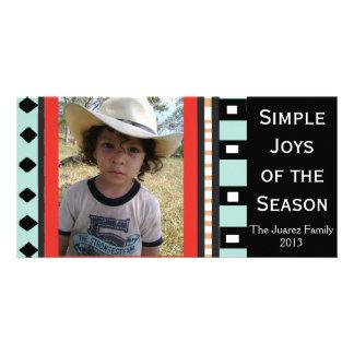 Southwest Geometric Holiday -Customizable Photo Card