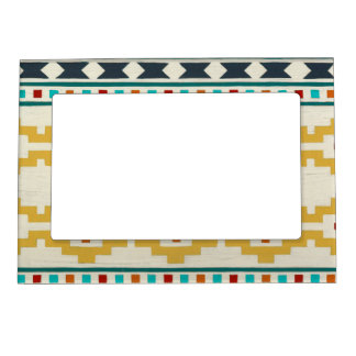 Southwest Geometry III Picture Frame Magnet