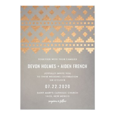 Aztec Themed Southwest Gleam Wedding Invitation