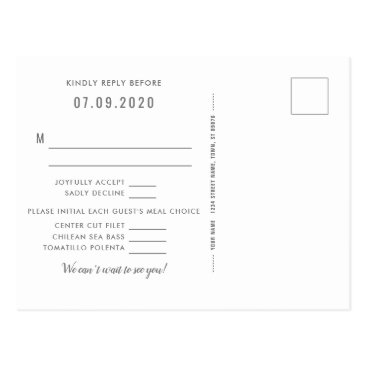 Aztec Themed Southwest Gleam Wedding Reply Postcard