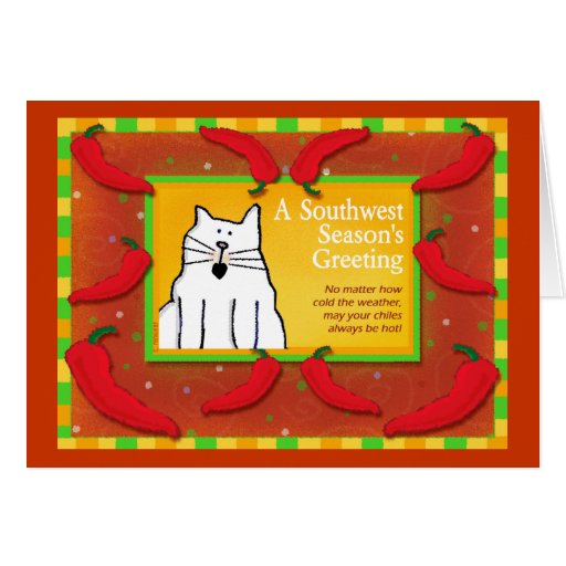 Southwest Holiday Greeting, Cat Card