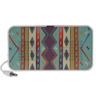 Southwest Indian Blanket Design Doodle Laptop Speaker