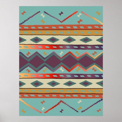 Southwest Indian Blanket Design Print Zazzle