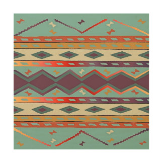 Southwest Indian Blanket Design Wood Wall Art
