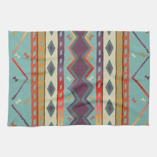 Southwest Indian Design Cotton Kitchen Towel at Zazzle