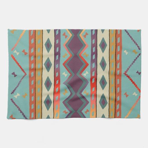 southwest indian design cotton kitchen towel zazzle