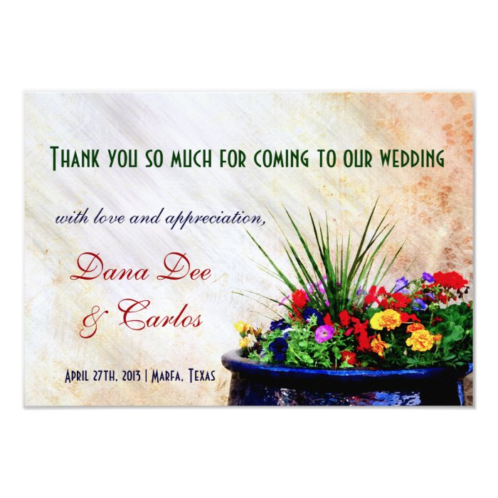 Wedding Gift Bag Cards : Southwest-inspired Wedding Gift Bag Thank You Card Zazzle