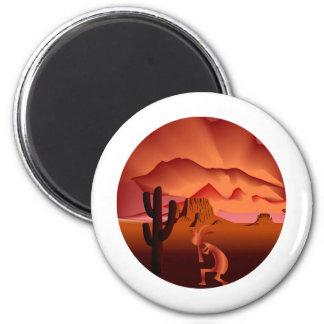 Southwest Kokopelli 2 Inch Round Magnet