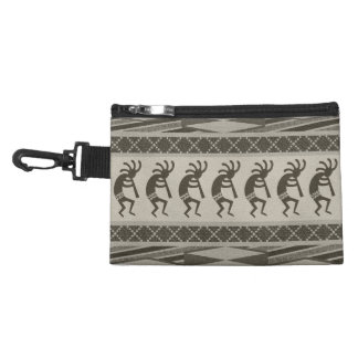 Southwest Kokopelli Aztec Print Pattern Accessory Bag