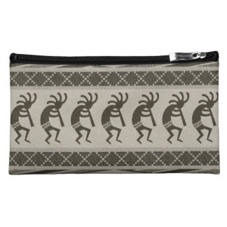 Southwest Kokopelli Aztec Print Pattern Cosmetic Bag