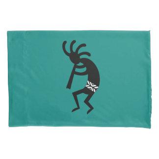 Southwest Kokopelli Black And Teal Pillowcase