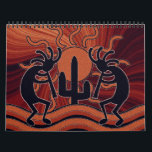 """Southwest Kokopelli Calendar<br><div class=""""desc"""">This calendar features a different Kokopelli image for each month of the year. Frame them all after the year is up for unique Kokopelli wall art.</div>"""