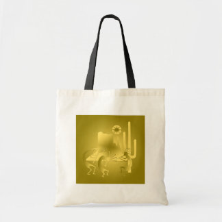 Southwest Kokopelli in Gold Tote Bag