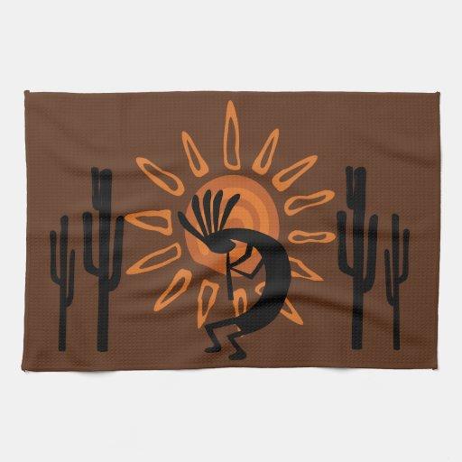 southwest kokopelli sun desert rustic k towel