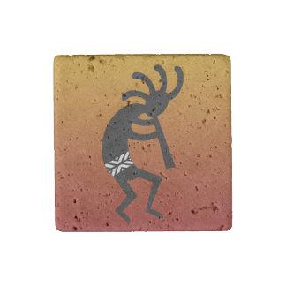 Southwest Kokopelli Travertine Magnet Stone Magnet