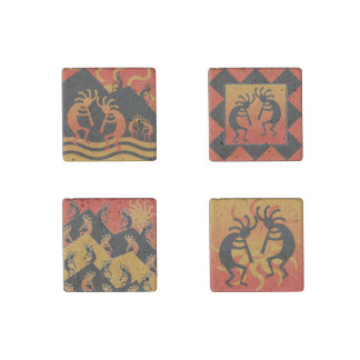 Southwest Kokopelli Travertine Magnets Stone Magnet