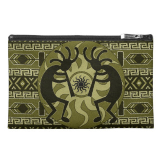 Southwest Kokopelli Tribal Sun Aztec Print Pattern Travel Accessory Bags