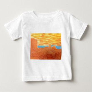 Southwest Landscape Chalk Drawing Baby T-Shirt