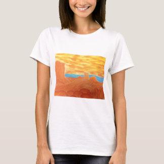 Southwest Landscape Chalk Drawing T-Shirt