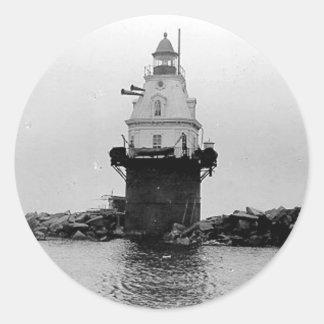 Southwest Ledge Lighthouse Classic Round Sticker