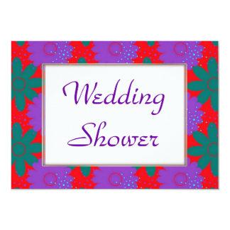 Southwest Megafiori WEDDING 5x7 Paper Invitation Card