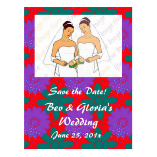 Southwest Megafiori WEDDING Save The Date Postcard