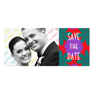 Southwest Megafiori WEDDING Save The Date Rack Card