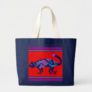 Southwest Mimbres Cat Large Tote Bag