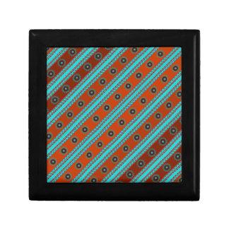 Southwest Motif Wood Gift Box w/ Tile