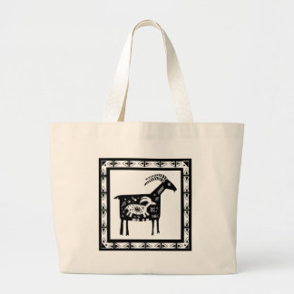 Southwest Mt. Mama Goat with Baby Jumbo Tote Bag