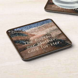 Southwest Native American Mother Earth Plastic Drink Coaster