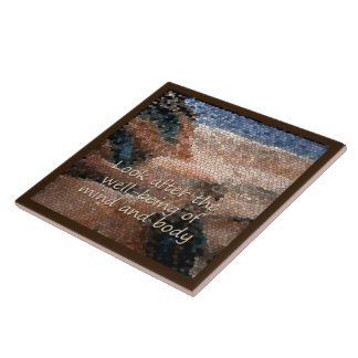 Southwest Native American Well Being Large Tile