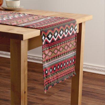 Tribal Pattern Southwest Design Short Table Runner   Zazzle.com