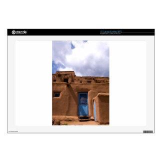 "Southwest New Mexico Adobe House Village 17"" Laptop Decals"