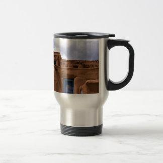 Southwest New Mexico Adobe House Village Travel Mug