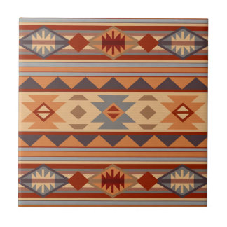 Southwest Pattern Design Tan Ceramic Tile