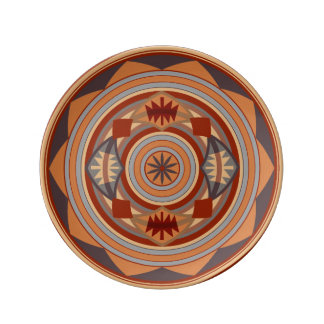 Southwest Pattern Design Tan Dinner Plate