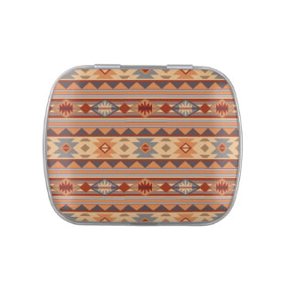 Southwest Pattern Design Tan Jelly Belly Candy Tins
