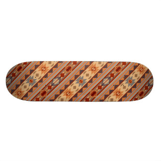 Southwest Pattern Design Tan Skateboard