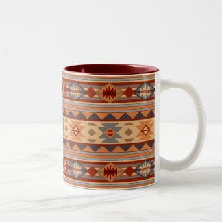 Southwest Pattern Design Tan Two-Tone Coffee Mug