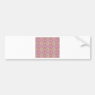 Southwest Pink and More Motif Car Bumper Sticker
