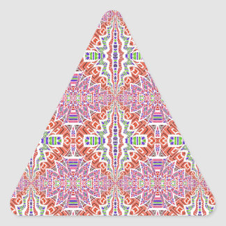 Southwest Pink and More Motif Triangle Sticker