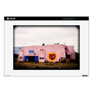 "Southwest Pink Art Stucco Building Skin For 15"" Laptop"