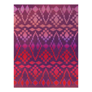 Southwest Pink / Purple Tribal Letterhead