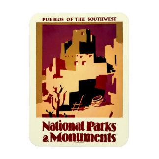Southwest Pueblos WPA National Parks Poster Magnet