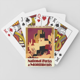 Southwest Pueblos WPA National Parks Poster Playing Cards